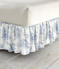 """Lenoxdale Toile Gathered Bed Skirt 20"""" Drop_108949"""