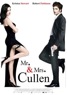 Mr. and Mrs. Cullen (Breaking Dawn 1&2) are Mr. and Mrs.Smith Inspired Movie Poster
