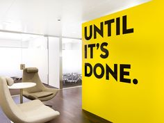 Solid walls of colour. A flexible brand approach with a bold, exciting and inspirational message.