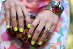 Leopard and neon!!! Can't think of a better combo, and that ring is beautiful!
