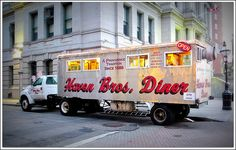 Haven Brothers Diner parks next to Providence City Hall every night.