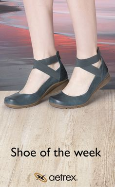 Enter to win a free pair of Aetrex shoes! | Dakota ballet flats with adjustable ankle straps & built-in arch support