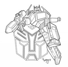 Transformers Cloring Page