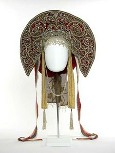 Headdress, part of Ballets Russes costume, worn by Anna Pavlova. Museum of London