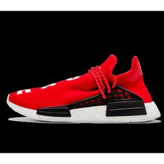 ce905b26df8ff Peu CoûTeux Chaussures Homme Adidas Original HU NMD x Pharrell Williams  Rouge Hu Race Rouge