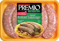 Premio Sweet/Mild Italian Sausage Premio Foods, Premio Sausage