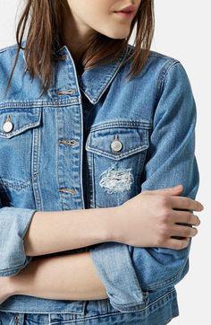 Topshop Moto 'Tilda' Denim Jacket on ShopStyle