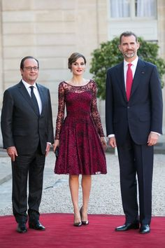 Pin for Later: Queen Letizia of Spain Is a Gorgeous Vision in Burgundy
