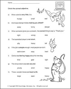 Printables English Test Grade  2 test your word power vi free grade 2 english worksheet ix 2nd adjectives worksheet