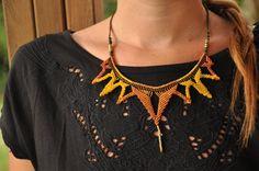 summer macrame necklace by MacraMogly on Etsy