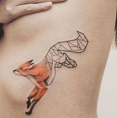Javi Wolf, fox, tattoo