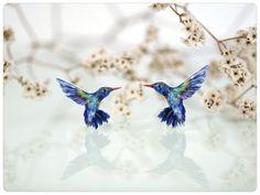 Kolibri Broschen Set Kolibris Vogelbroschen von fraufischers