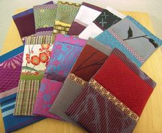 Card cases made of Kimono cloth