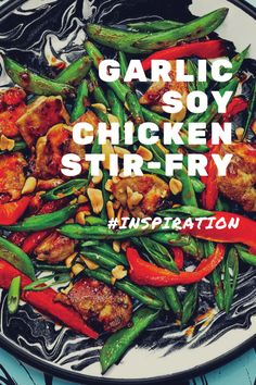 This stir-fry comes together super-fast for a satisfying weeknight meal. Chicken, soy, and garlic play nicely with fresh veggies and buttery avocado oil, the silent hero of this dish. Keep this in mind for hectic nights. Meat Recipes, Asian Recipes, Healthy Recipes, Ethnic Recipes, Chinese Recipes, Chinese Food, Healthy Meals, Yummy Recipes, Healthy Food