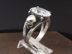 MySacrum  SKULL RING ENGAGEMENT by MySacrum on Etsy https://www.etsy.com/listing/269467851/mysacrum-skull-ring-engagement