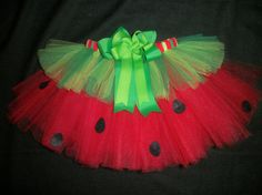 Watermelon picnic tutu 4th of July tutu or Summer by CatyRoseBows, $25.00- THIS IS SOOOO CUTE!