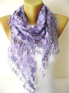 Purple Scarf  Elegant scarf-gift Ideas For Her-Women's