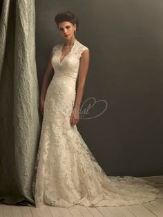 classy, lace wedding gown - if I were to do it all over, this would be the dress!