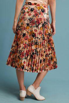 22e492a8fd Slide View: 5: Floral Velvet Skirt Velvet Pleated Skirt, Modest Outfits,  Skirt