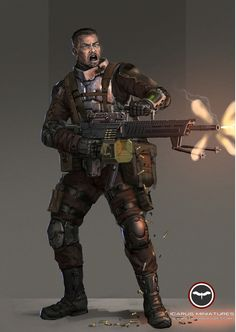 Alliance trooper with LMG Learn More…