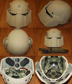 Real face shield for frag protection.