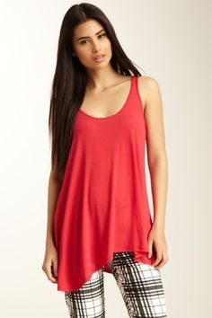 Scoop Neck Asymmetrical Tank... I personally loved the pants with this blouse. :) qv