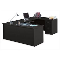 Compact U-Desk #officefurniture #contemporary | National Business Furniture