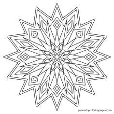 """Quasar"" from geometrycoloringpages.com"