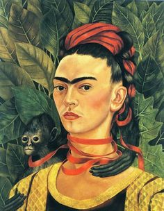 Frida Kahlo - Portrait With Monkey, 1940