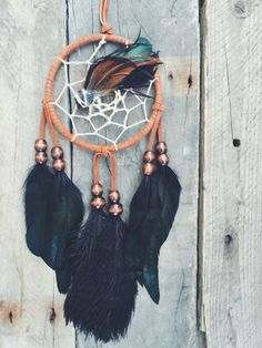 """handmade 4"""" dreamcatcher with black tourmaline ~ customs available at thespiritwoods.etsy.com"""