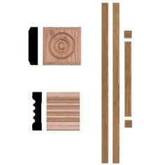 House of Fara, 3/4 in. x 3 in. x 7 ft. Oak Door Trim Casing Set, 5000 at The Home Depot - Mobile