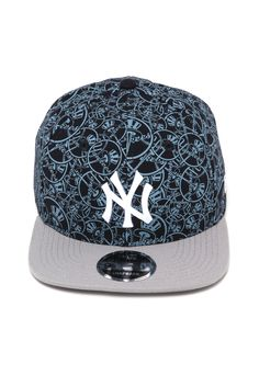 Boné New Era Snapback New York Yankees Azul Cinza ca4edc49080