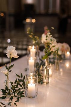 Eve Floral Co. Jenny Haas Photography Cincinnati Wedding Blush and White Peony a… Eve Floral Co. Jenny Haas Photography Cincinnati Wedding Blush and White Peony and rose wedding. Bud vases with candlelight decor and greenery Simple Wedding Centerpieces, Wedding Vases, Wedding Table Settings, Wedding Table Centerpieces, Rose Wedding, Floral Wedding, Wedding Flowers, Wedding Decorations, Wedding Blush