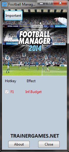 FOOTBALL MANAGER 2014 V14.1.3 TRAINER +1 [MRANTIFUN]  http://trainergames.net/football-manager-2014-v14-1-3-trainer-1-mrantifun/