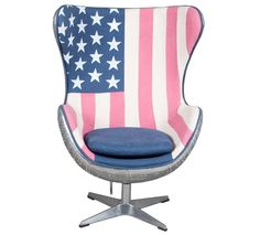 Stars and Stripes Aviation Egg Chair