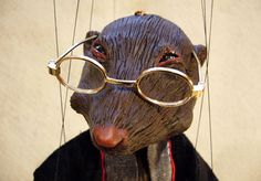 Mole from Wind in the Willows Marionette by Susan Taaffe