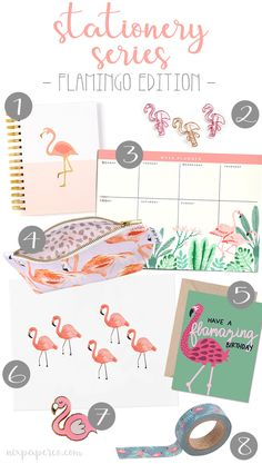 Must-have stationery products shared by Nix Paper Co. A collaboration of the cutest flamingo products! Check out the blog to see where they're from, so you can snag 'em yourself!