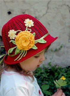 crafts for summer: crochet hat patterns, kids craft ideas - crafts ideas - crafts for kids Crochet Hat Pattern Kids, Crochet Cap, Crochet Baby Hats, Crochet Beanie, Diy Crochet, Crochet Clothes, Knitted Hats, Crochet Patterns, Hat Patterns