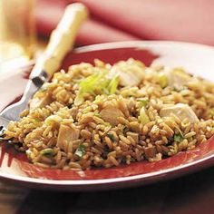 chicken fried rice, i have a wok, need to try!
