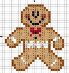 Ginger bread man cross stitch easy pattern!