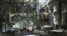 Gundam Fan-Art: Gundam in Maintenance Bay Image via wang景天 Gundam Wing, Gundam Art, Wing City, Plastic Art, Cartoon Games, Environmental Art, Mobile Suit, Transformers, Concept Art
