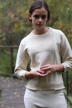 Cosmic Wonder Mountain Wool Sweater White