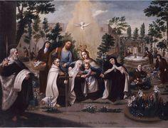 XVIII - Los desposorios Místios - Arte Novohispano