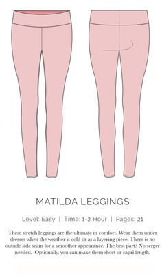 Matilda Legging free sewing pattern