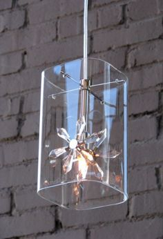 Petit Flower Glass Hanging Pendant Light   Scenario Home