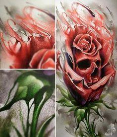 New tattoo lotus colour tat Ideas Skull Tattoo Flowers, Skull Rose Tattoos, Flower Tattoos, New Tattoos, Cool Tattoos, Skull Tattoo Design, Tattoo Designs, Tattoo Sketches, Tattoo Drawings