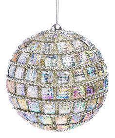 Silver Sparkle Ball Ornament | zulily