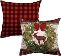 Woodland Christmas Outdoor Pillow Christmas Garden Flag, Woodland Christmas, Christmas Pillow, Outdoor Christmas, Christmas Stockings, Christmas Holidays, Flags For Sale, Mini Flags, Yard Flags