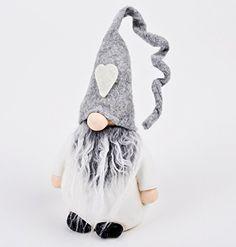 Wichtel Deko Figur Baumwolle Filz 39x13x9cm grau weiss Xmas Weihnachtsdeko finde hier noch mehr http://www.woonio.de/p/wichtel-deko-figur-baumwolle-filz-39x13x9cm-grau-weiss-xmas-weihnachtsdeko/