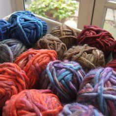 Joe's Toes Super Chunky Slipper Yarn  in six yummy colours.